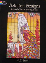 Victorian Designs Stained Glass Coloring Book ヴィクトリアンデザイン ステンドグラス カラーリングブック Dover