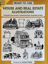 HOUSE AND REAL ESTATE ILLUSTRATIONS  CLIP ART Series   家と不動産のイラスト Dover