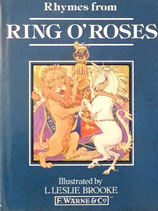 RING O'ROSES Nursery Rhyme Picture Book レスリー・ブルック Warne&co.版ミニブック