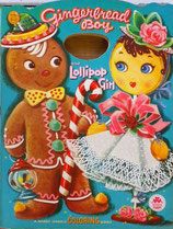Gingerbread Boy and Lollipop Girl a Handy Handle Coloring Book  MERRILL 2542