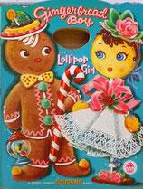 Gingerbread Boy and Lollipop Girl a Handy Handle Coloring Book  MERRILL 2542