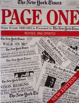 Page One Major Events 1920-1983 as Presented in the New York Times