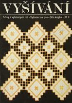 vyšívání ažury z vytažených nití  vyšívání na tylu  šitá krajka  díl7 チェコのレース刺繍 part7