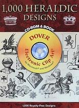 1000 Heraldic Designs  紋章デザイン1000 CD-ROM&BOOK    Dover