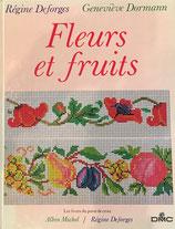 Fleurs et fruits Les Livres du point de croix クロスステッチの花と果物 DMC