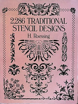 2,286 Traditional Stencil Designs  H.Roessing   Dover