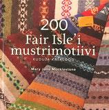 200 FAIR ISLE´I MUSTRIMOTIIVI 200のフェアアイルパターン