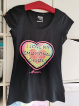 """T-Shirt """"I LOVE MY EMOTIONAL CHAOS""""      by Charity Design Label GOLDRATTE"""
