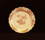 Plate with a little pig