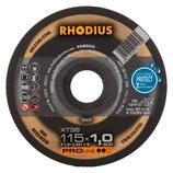 ProduktnameRHODIUS extra dünne INOX Trennscheiben XT38 Ø 115/125 x 1,0 mm für Winkelschleifer Metalltrennscheibe 10 Stück