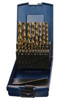 Spiralbohrersatz DIN 338 Typ N Nenn-D. 1-10,5x0,5 mm HSS TiN 24 teilig Kunststoffkassette PROMAT