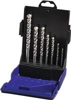Hartmetallschlagbohrersatz 7 teilig 4/75,5/85,8/120,10/120,12/150,2x6/100 mm HM PROMAT