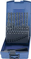 Spiralbohrersatz DIN 338 Typ N Nenn-D. 1-10x0,5 mm HSS 19 teilig Kunststoffkassette PROMAT