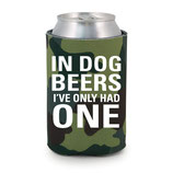 In Dog Beers CollarDoozie Camo Koozie