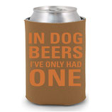 In Dog Beers CollarDoozie Brown Koozie