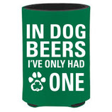In Dog Beers Lucky Green CollarDoozie Koozie