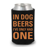 In Dog Beers CollarDoozie Black & Orange Koozie