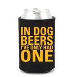 In Dog Beers CollarDoozie Black & Yellow Koozie