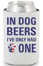 In Dog Beers CollarDoozie Patriotic Koozie