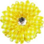 Gingham Style Flower