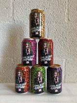 6 verschillende kleuren Long blond animal blikken bier
