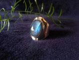 Labradorit Ring gefasst in 925 Sterling Silber, R 024