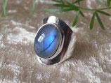 Labradorit Ring eingefasst in 925 Sterling Silber, R 026