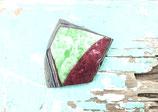 Brosche grün/rot