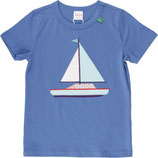 green cotton Ocean boat s/s T blue