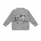 Dear Sophie Koala Grey Melange Bomber Jacket