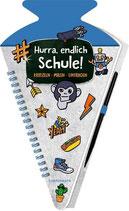 Coppenrath Kratzelbuch Schultüte blau