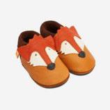Orangenkinder Leder-Hausschuhe Franz, der Fuchs