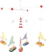 "small foot Mobilé ""Segelboote mit Leuchtturm"""