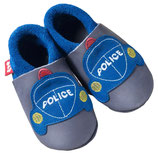 pololo Leder-Hausschuhe Polizei Gr. 30/31