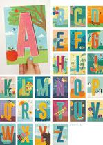 Monimari Buchstaben-Postkarten A-Z