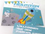 Space-Einladungskarte