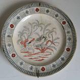 Antiek chinoiserie muurbord kraanvogel 1880-1890