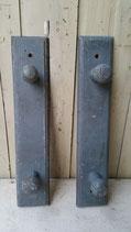 Franse  houten kapstokjes in originele kleur blauw