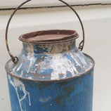 Oude melkbus blauw