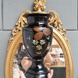 Glazen vaas met opdruk