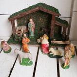 Kerststal met kerstgroep