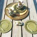 Set borden groen gebloemd