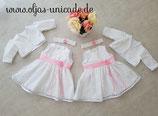 Süßes Zwilligsset Kleid (mit rüschchen )Bolero Stirnband