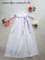 Taufkleid aus Spitze in Weiß 100% Baumwolle mit weice spite 56.62.68.74.80.86.92.  Artikelnummer 0025467245-41