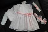 Neu Taufset Hochzeit taufeKleid Bolero Schuhe Stirnband Baby taufe Artikelnummer 0025467245-135