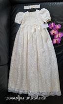 Taufkleid Elisabeth  100% Baumwolle in Creme und feine spitze  Artikelnummer 0025467245-OP-03