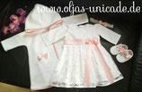 Taufset Mit Braut-spitze Kleid Mantel Schuhe Stirnband Artikelnummer 0025467245-TK-06