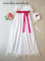 Langes Tradietionelles Taus Kleid + Haube +Bestickte Schleife nach Wusch Art nummer:025077xOS3