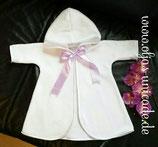 Mantel mit Satinsaum in Weiß o. Altrose zu Zubinden; schleifen farbe nach Wunsch