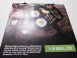 Grillpfanne Pan 5in1, Aluminium Pfanne, 5 Zubereitungszonen, Antihaftbeschichtet